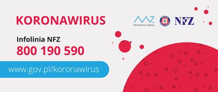 Ważne informacje na temat koronawirusa. Kliknij aby dowiedzieć się więcej